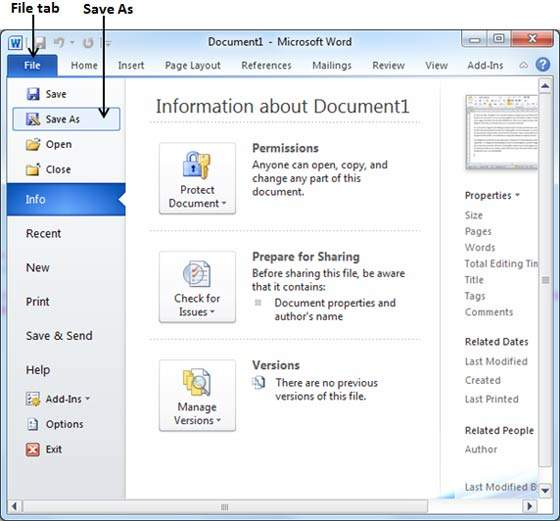 how open word 2010 to pdf