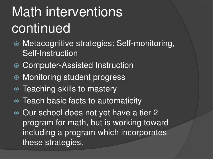 learning gains in computer assisted instruction in math