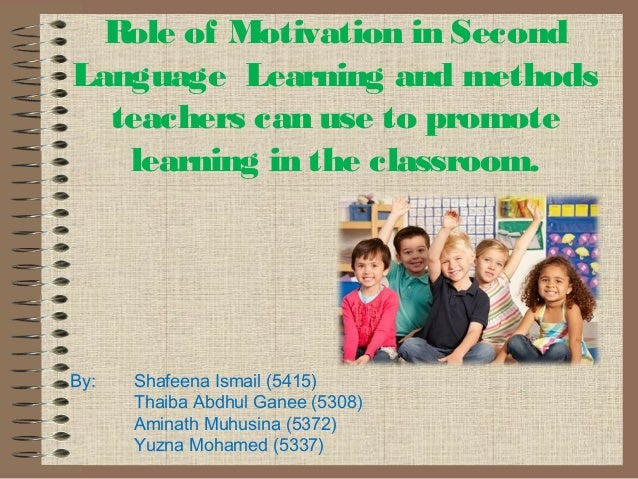learning strategies for role of motivation pdf