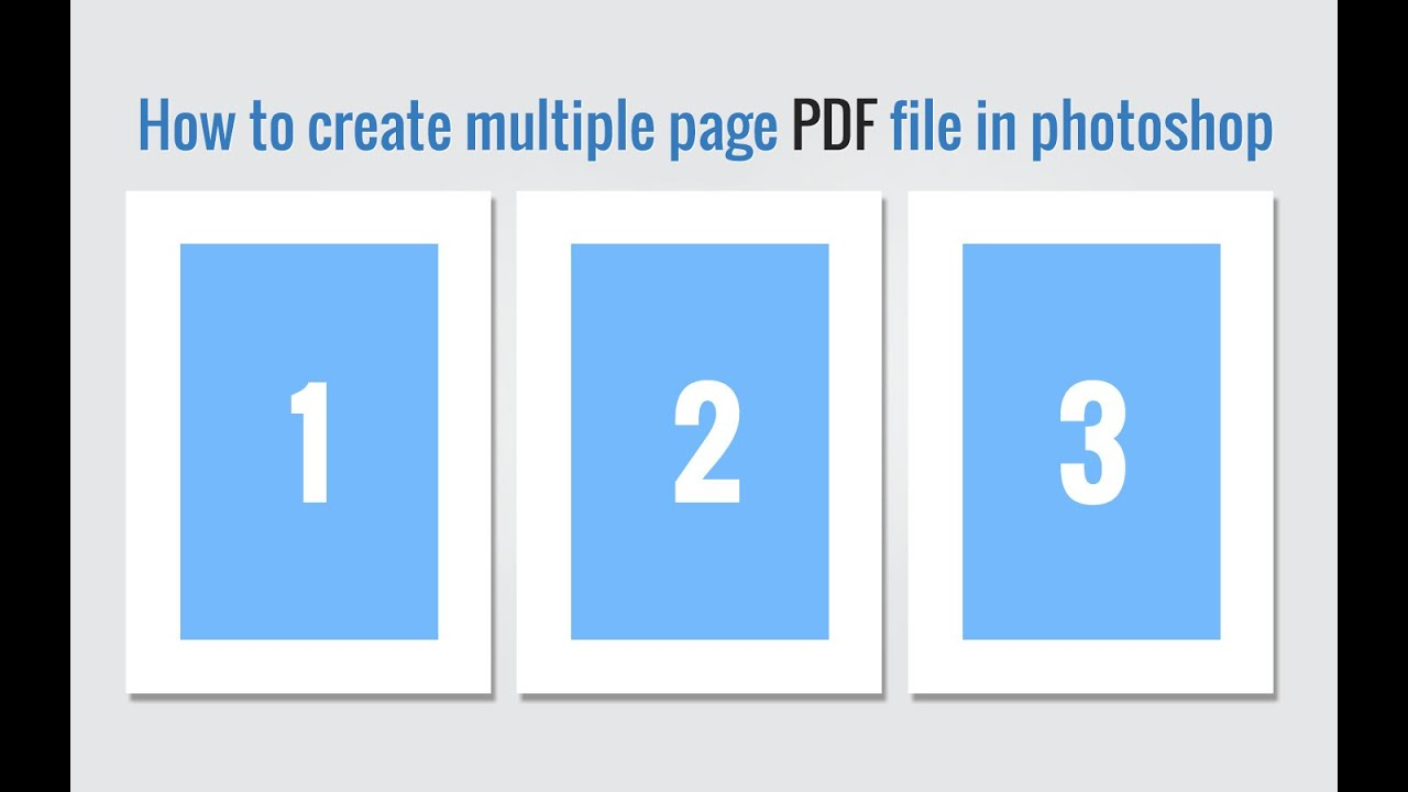 how to convert photoshop to pdf with multiple pages