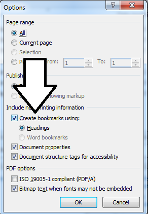 how to bookmark on pdf