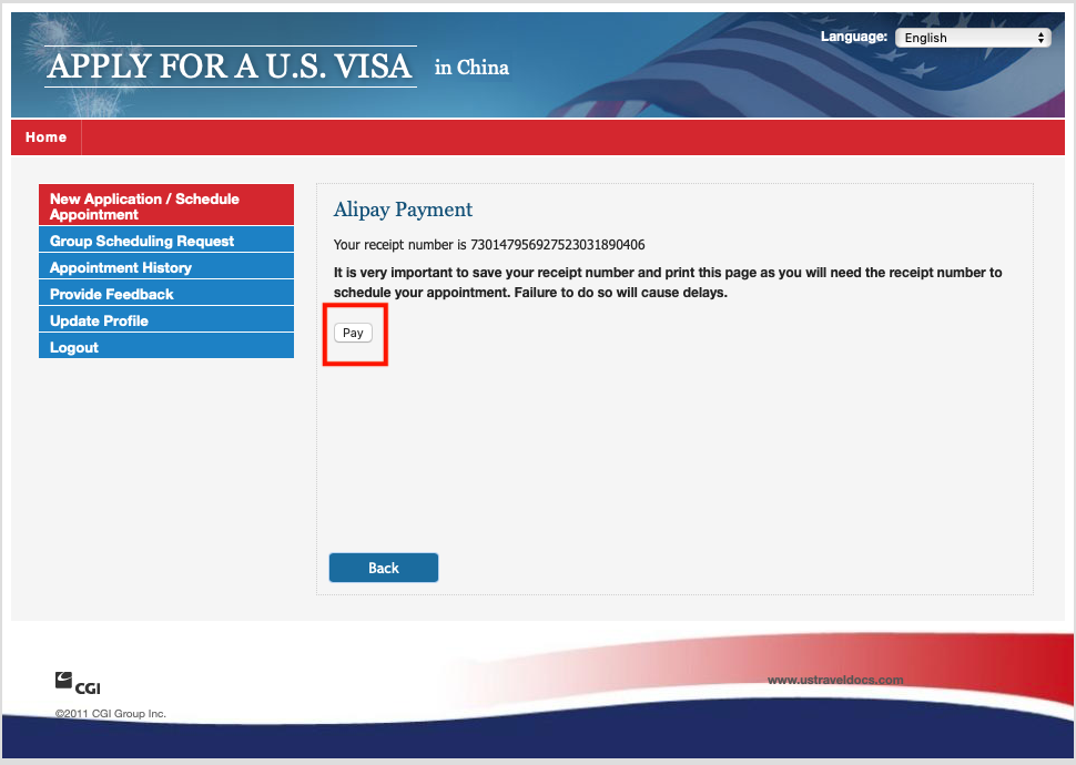 how much to pay the us visa application fee