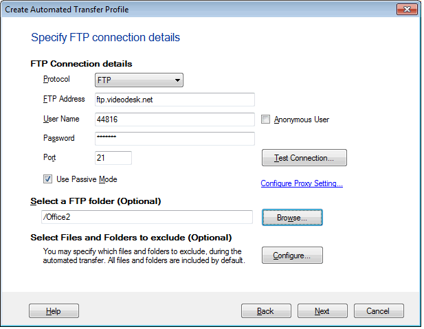 how to connedt filezilla application to a html file