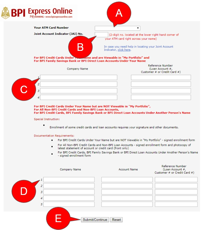 online application bpi savings account
