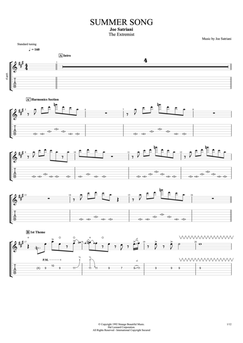 joe satriani engines of creation songbook pdf