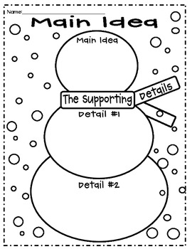 main idea topic sentence and supporting details worksheets pdf