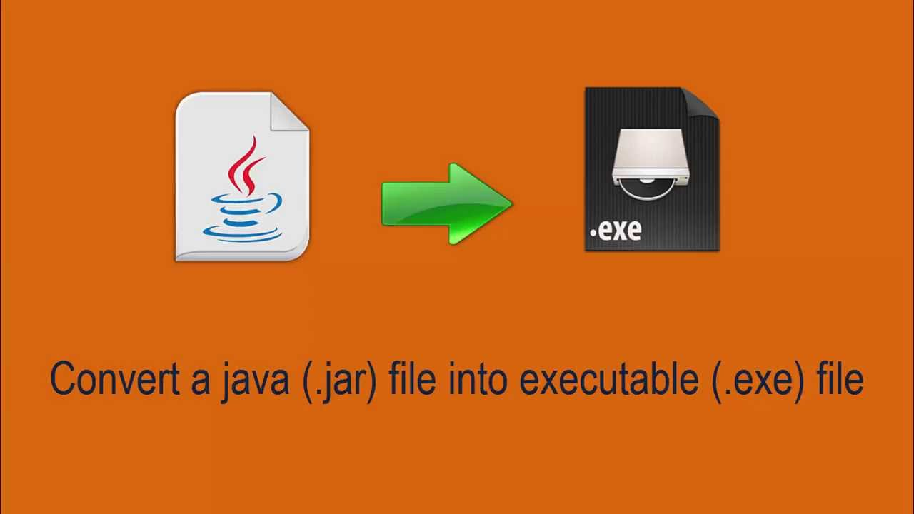 how to change exe of jar files to java application