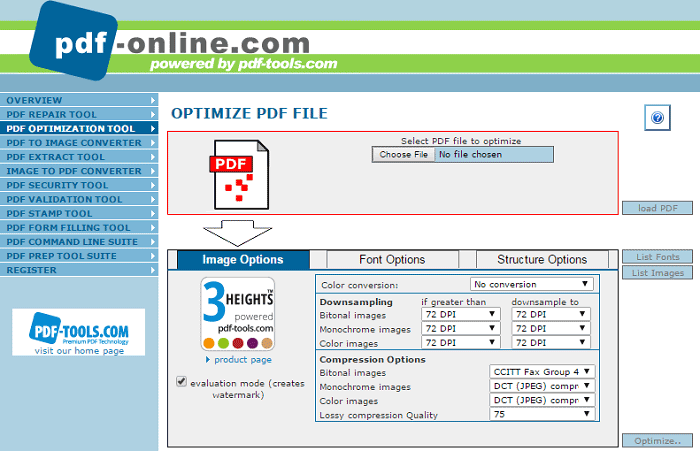 online images to pdf converter and compressor