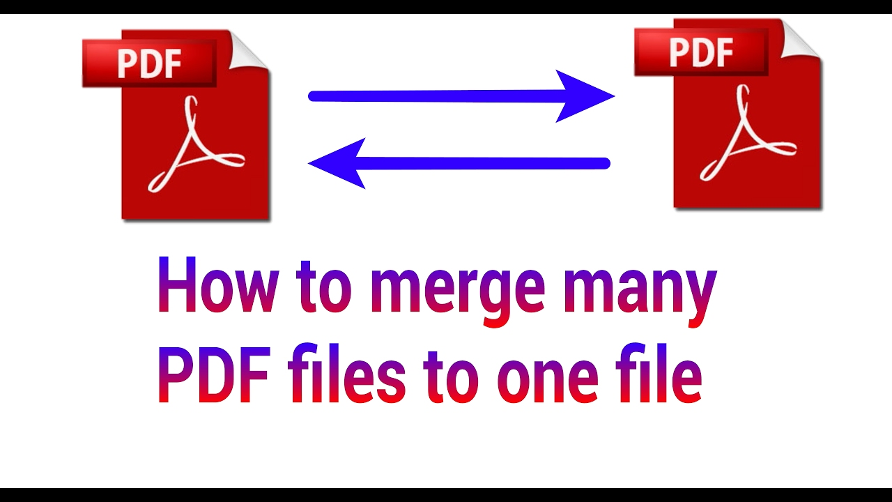 how to combine different pdf files