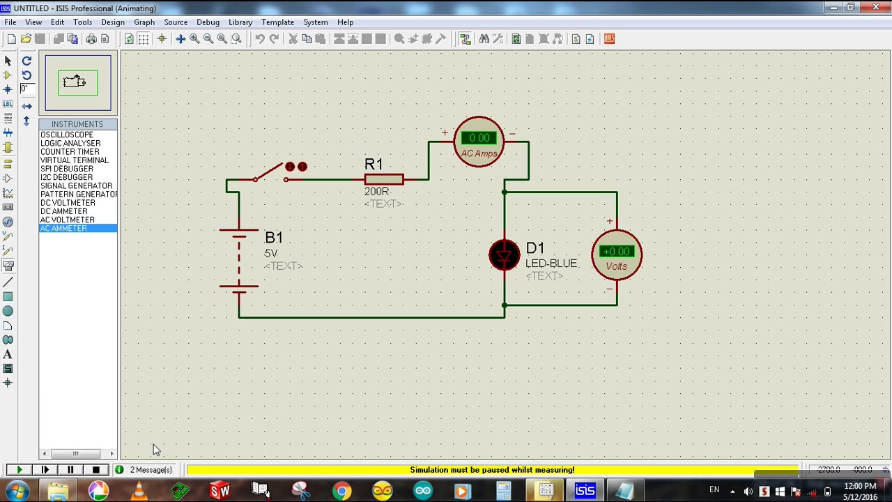how to connect ammeter and voltmeter in a circuit pdf