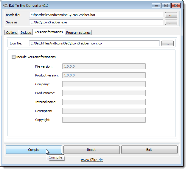 how to edit application exe from ipad