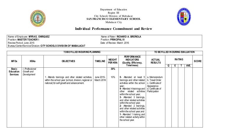 individual performance commitment and review form pdf