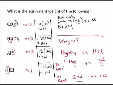 molarity and normality problems pdf