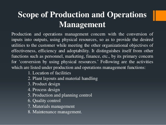 operations management pdf plant location and layout