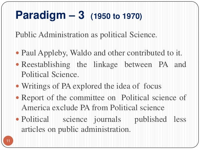 paradigm of public administration pdf